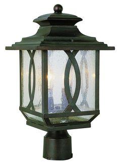 Trans Globe Lighting 5193 BRT Estate Collections 2 Light Post Lantern