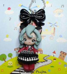 Daniela Pupa :) Polymer Clay People, Polymer Clay Dolls, Small Figurines, Biscuit, Clay Figures, Ceramic Clay, Clay Tutorials, Kawaii, Cold Porcelain