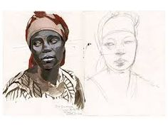 titouan/lamazou - Recherche Google Travel Sketchbook, Atelier D Art, Afro Art, Portraits, Illustrators, Ledoux, 1975, Tangier, Sketchbooks