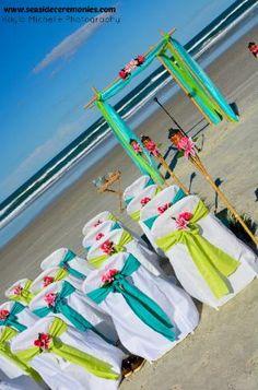 Teal and Green Florida Beach wedding. #beachwedding #beachweddingdecor #daytonabeachwedding #daytonabride #tropicalwedding #destinationwedding