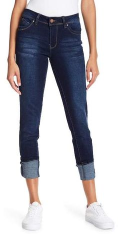 9e43df62 YMI Jeans WannaBettaButt Mid Rise Mega Cuff Denim Ymi Jeans, Denim Jeans,  Destroyed Jeans