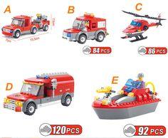 5pcs Kids DIY Road Truck Boat Helicopter Educational Toys Building Blocks Bricks #Unbranded