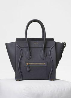 b6f40418ff27 Céline micro luggage in drummed calfskin (liquorice) Purses And Handbags