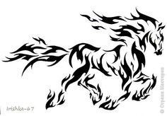 16 Tribal Animal Tattoo Designs, Pictures And Photos Tribal Tattoo Designs, Tribal Horse Tattoo, Tribal Drawings, Horse Tattoo Design, Cool Tribal Tattoos, Cool Tattoos, Horse Tattoos, Tribal Animal Tattoos, Tatoos