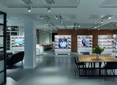 Unibox illuminates Clarks' Russell Square showroom, London – UK » Retail Design Blog