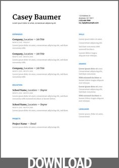 Resume Templates Google Docs Beauteous Glimmer Google Docs Resume Template  Resume  Pinterest  Google