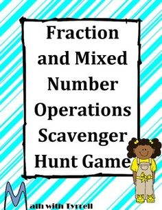 It's awesome when students actually want to practice their fraction operations!  Students love this scavenger hunt format.  My students are already bugging me for another scavenger hunt!  Great for math centers!  Middle school math
