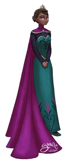 Alternate Elsa by Yamino on DeviantArt Black Girl Art, Black Women Art, Black Girl Magic, Black Girls, Art Girl, Disney Princess Art, Princess Cartoon, Disney Fan Art, Princess Tiana