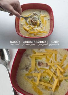 Bacon Cheese Burger Soup | low carb | LCHF | gluten free | Feingold