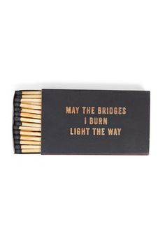 "Izola ""Bridges I Burn"" Matches - Bridge & Burn - Portland, Oregon"