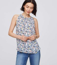 Shop LOFT for stylish women's clothing. You'll love our irresistible Floral Shirred Shell - shop LOFT.com today!