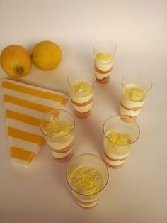 gr - Food that makes me happy - Greek Desserts, Lemon Cream, Punch Bowls, Sweet Treats, Food And Drink, Dessert Recipes, Pudding, Sweets, Cooking