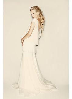 Robe de mariée Delphine Manivet :: wedding :: bride :: dress :: bohemian :: sleeveless :: long hair :: romantic