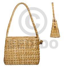 Pandan Double Zipper Medium 10x5x8 Native Bags
