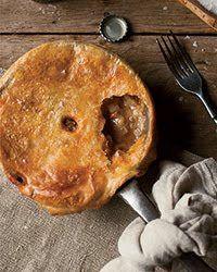 Pork, potato and apple pie