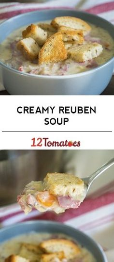 Creamy Reuben Soup *Omit carrots, use only chopped onion, add 1 tsp. crushed caraway seeds and 1 tbsp horseradish. Sauerkraut, Cooking Corned Beef, Corned Beef Soup, Low Carb Recipes, Cooking Recipes, Lunch Recipes, Good Food, Yummy Food, Tasty