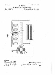 Apparatus for Producing Ozone - US568,177 - Nikola Tesla - Easy Power Plan
