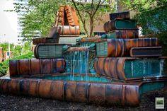 Book water fountain.