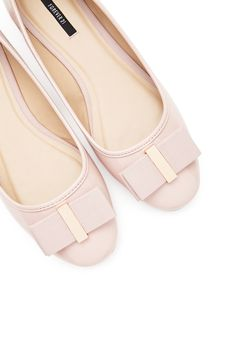 Faux Patent Leather Bow Flats