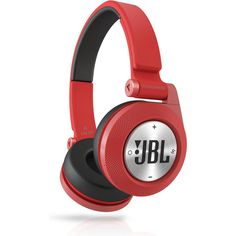 JBL Synchros E40BT Red Bluetooth OnEar Headphones Headset Music Sharing Wireless
