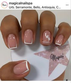 French Tip Nail Designs, French Tip Acrylic Nails, French Manicure Nails, Manicure E Pedicure, Shellac Nails, French Nails, Pretty Toe Nails, Love Nails, Fun Nails