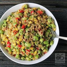 Not just another pretty salad! Not only is it vegan, gluten-free and delicious, but it's also packed with fiber, protein and calcium. A healthy lunch option that will keep you feeling fuller longer...