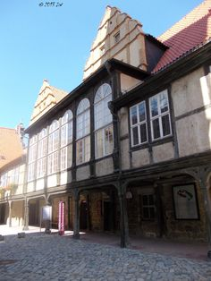 Half-timbered houses at the Quedlinburg Castle. The Castle is also part of the UNESCO Heritage List. It was founded by Henry the Fowler and built up by Otto the Great in 936. The castle was used during the WWII as part of the propaganda.