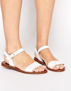 f99f12c03 amazon guarantee Image 1 of Windsor Smith Bondi White Leather Flat Sandals  Lowest price. Beautiful