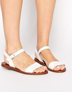 Windsor Smith Bondi White Leather Flat Sandals