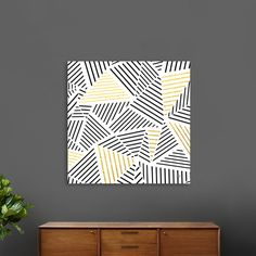 Discover «Ab Linear White Gold», Numbered Edition Canvas Print by Project M - From $49 - Curioos