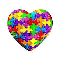 Jelly Puzzle Heart Bracelet by brainchildshop- 523530349 ($18) ❤ liked on Polyvore featuring jewelry, bracelets, hearts, rainbow, heart jewellery, heart jewelry, heart shaped jewelry, heart bangle and rainbow jewelry