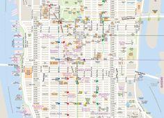 뉴욕 맨하튼_애비뉴(Ave.), 스트리트(St.)로  길 쉽게 찾는 방법: 스트리트와 애비뉴의 개념만 이해하면된다. 애비뉴(Ave.):동-서 구간을 14개로 나눈 길. 동쪽에서 서쪽으로 숫자가 높아짐. 스트리트(St.):남-북 구간을 200여개로 나눈 길. 남쪽에서 북쪽으로 올라갈수록 숫자가 높아짐.