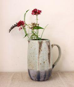Large Speckled Serving Jug - handmade pottery by Libby Ballard Ceramics