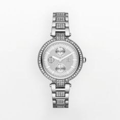 Shop Jennifer Lopez Stainless Steel Crystal Watch Women