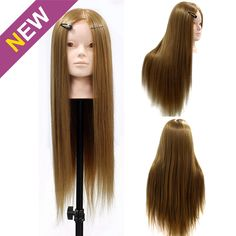 "24"" Hairdressing & Makeup Training Practice Head Mannequin 50% Human Hair…"
