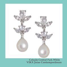 #NoivasVIKX #ColeçãoCentralParkwhite #Noivas #Jewellry #vikx #Joias #Casamento #Gargantilha #Earring #Brinco #gold #Diamond #Pearl