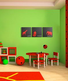 Love the colors for a kids play room!
