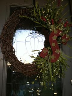 Initial wreath for the front door