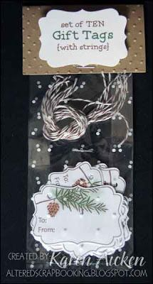 Altered Scrapbooking: Pine Cone Gift Tag Set