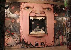 Russian street artist Nikita Nomerz  Underground Dweller in Nizhniy Novgorod