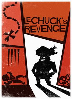 Monkey Island LeChuck's Revenge A Saul Bass tribute. Monkey Island LeChuck's Revenge - By Saul Bass Monkey Island, Pirate Illustration, Day Of The Tentacle, Island Tattoo, Lucas Arts, Video X, Adventure Games, Graphic Artwork, Video Game Art