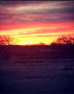 Beautiful sunrise in Oklahoma!