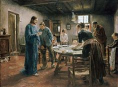 The Mealtime Prayer - Fritz von Uhde - Google Cultural Institute - Fritz von Uhde -