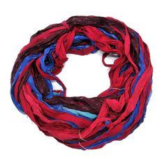 New! Premium Sari Silk Chiffon Printed Ribbon , 100g