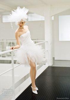 Short and Tea Length Wedding Dresses : Francisco Reli Wedding Gowns 2011