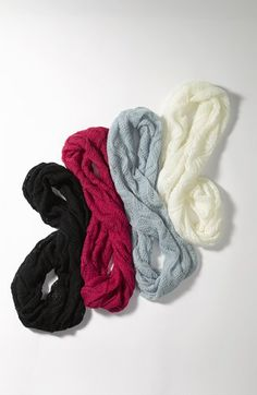 pointelle infinity scarf - $20!  GREAT gift
