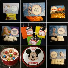 Disney Trip Gift bags and Disney themed snacks - to make a long car ride to Disney less stressful for everyone..