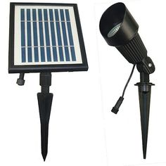 Solar Goes Green Black Low Voltage Solar LED Spot Light at Lowe's. Illuminate your flag, signs, walls, landscaping and more. The heavy-duty Solar Goes Green solar-powered black outdoor spotlight is powered by 12 warm Flagpole Lighting, Bollard Lighting, Deck Lighting, Landscape Lighting, Pathway Lighting, Lighting Ideas, Solar Power Batteries, Solar Spot Lights, Thing 1