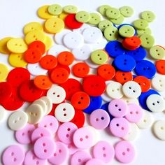 120 Colorful #Buttons.