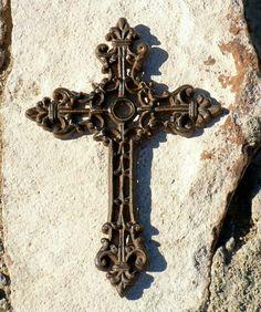 Large Old World Cast Iron Cross